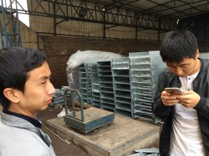 cable tray inspection Orange Line Tray order Lahore by china Railway Team