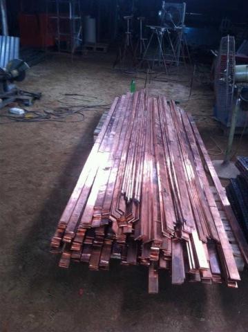 copper Bus Bar strip for Earthing Lightning